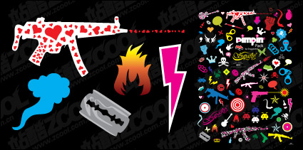 Link toThe trend of design elements combination of vector material