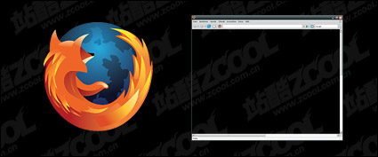 Link toFirefox browser window vector material
