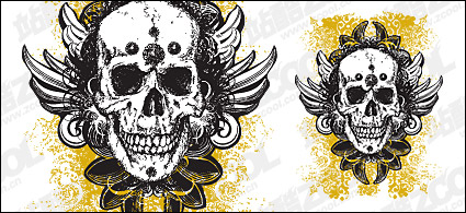Link toWinged skull pattern vector material