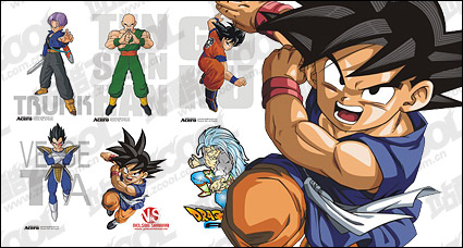 Link toDragon ball characters of the vector material