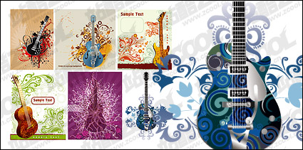 Link toGuitar patterns and vector material