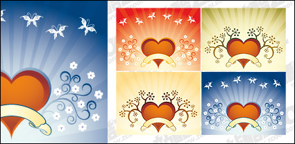Link toFourth quarter of heart-shaped pattern vector material