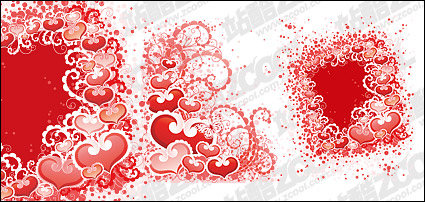 Link toHeart-shaped, dot patterns and vector material