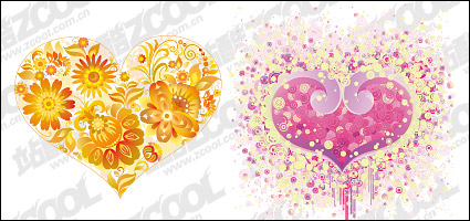 Link toHeart-shaped flower vector material