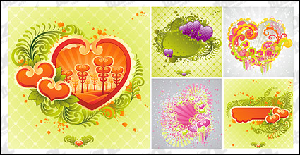 Link to5, trenduk heart-shaped elements vector material
