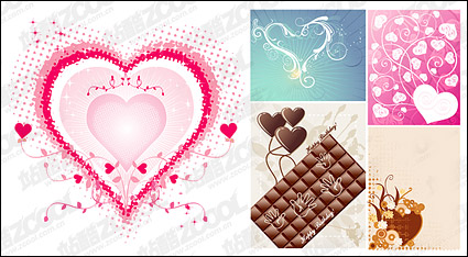 Link toSweet heart vector material