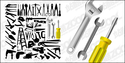 Link toVector material variety of tools in pictures