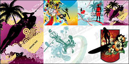 Link to5, windsurfing and movement patterns vector material