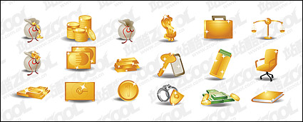 Link toMoney gold theme icon vector material