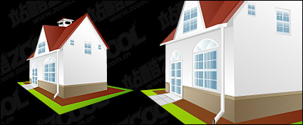 Link toContinental houses vector material