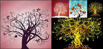 Link to4, vector theme of the tree material