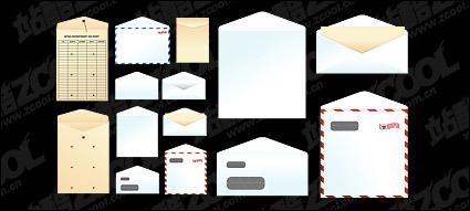 Link toPaper bags, envelopes, vector material