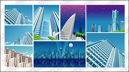 Link to9, city construction material vector