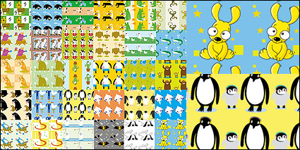 Link toVector lovely cartoon tiled background material-1