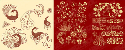 Link toClassical patterns and peacock vector material