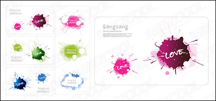 Link toExquisite color ink card material