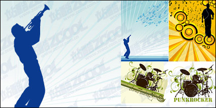 Link toMusic theme vector illustration material-1