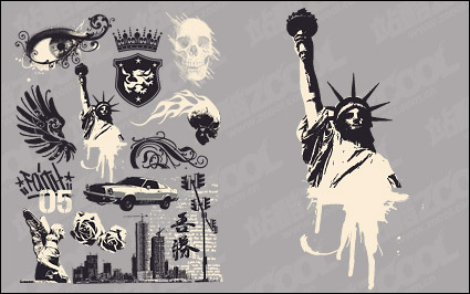 Link toEurope and the united states nostalgic design