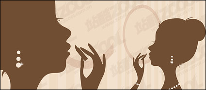 Link toLipstick painted silhouette of a woman vector material