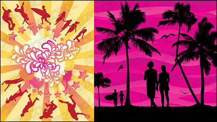 Link toSummer theme vector material