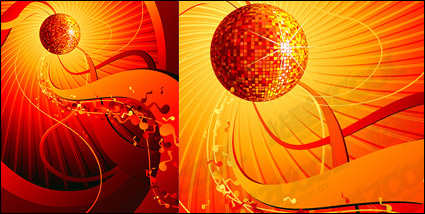 Link toThe trend of disco music element vector material