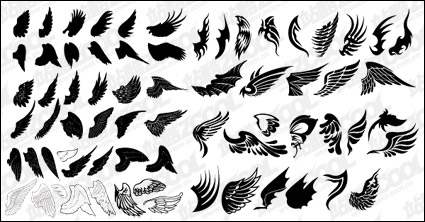 Link toNumber of exquisite wings vector material