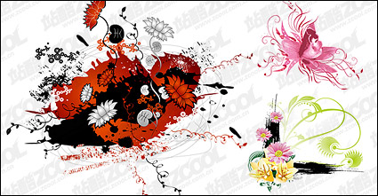 Link toDifferent flowers vector material