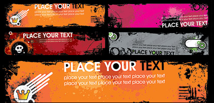 Link toThe trend banner banner template vector material-5