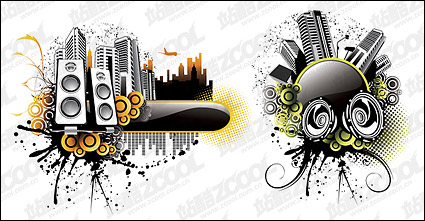 Link toMusic city illustrator vector material
