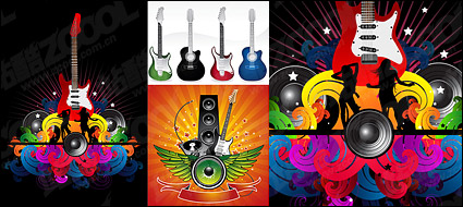 Link toGuitar theme vector material