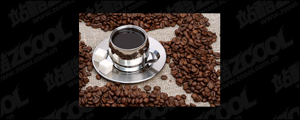 Coffee and coffee beans exquisite picture quality material