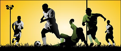 Link toPlaying soccer athletes vector material
