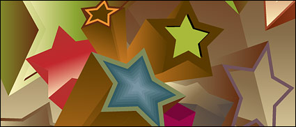 Link to3d vector background material stars