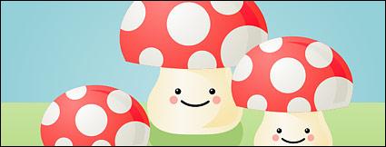 Link toLovely mushroom vector material