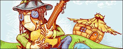 Link toStray singer vector illustrations material