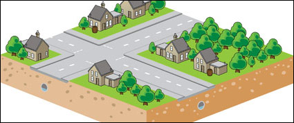 Link toThree-dimensional cartoon style street vector material