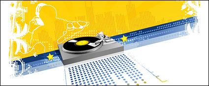 Link toDj music element vector material