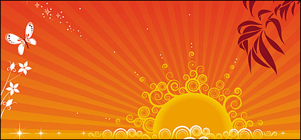 Link toSunset and the trend of vector material