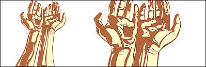 Link toPeople hands vector material