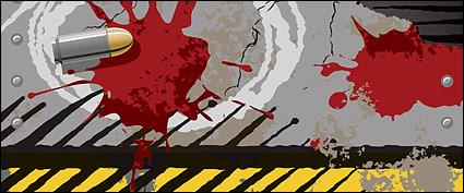 Link toBullets, cracks, blood stains vector material