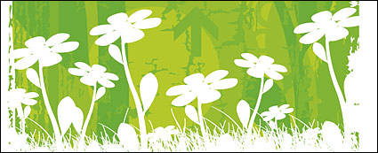 Link toVector small flowers background material
