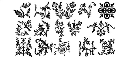 Link toSections of lace pattern vector material