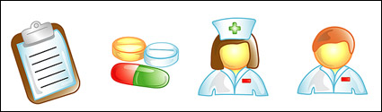 Link toDoctors, nurses icon vector material