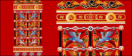 Link toClassical chinese crane with auspicious designs