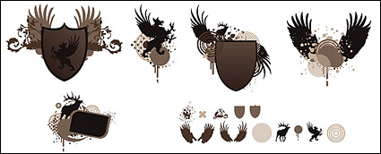 Link toShields, wings, pictorial material vector
