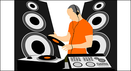 Link toDj music equipment vector material