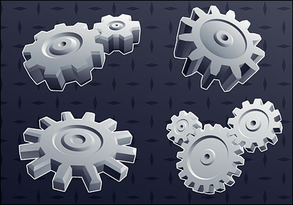 Link to3d cool gear element vector background material