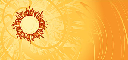 Link toHot! sun and the beautiful background material vector