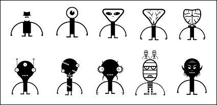 Link toWeird cute alien villain aberdeen vector material