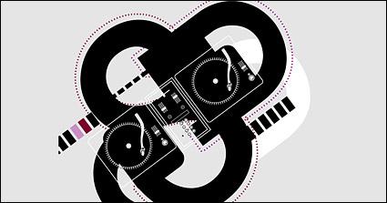 Link toDj music vector material